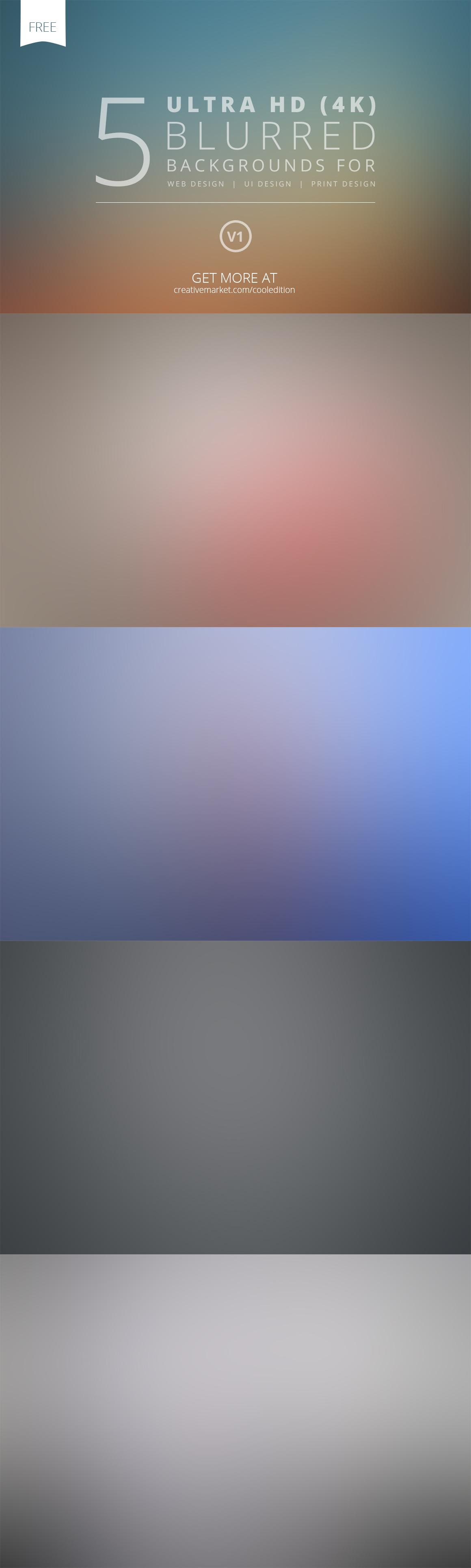 FREE - 5 Ultra HD Blurred Backgrounds v1 by cooledition.deviantart.com on @deviantART
