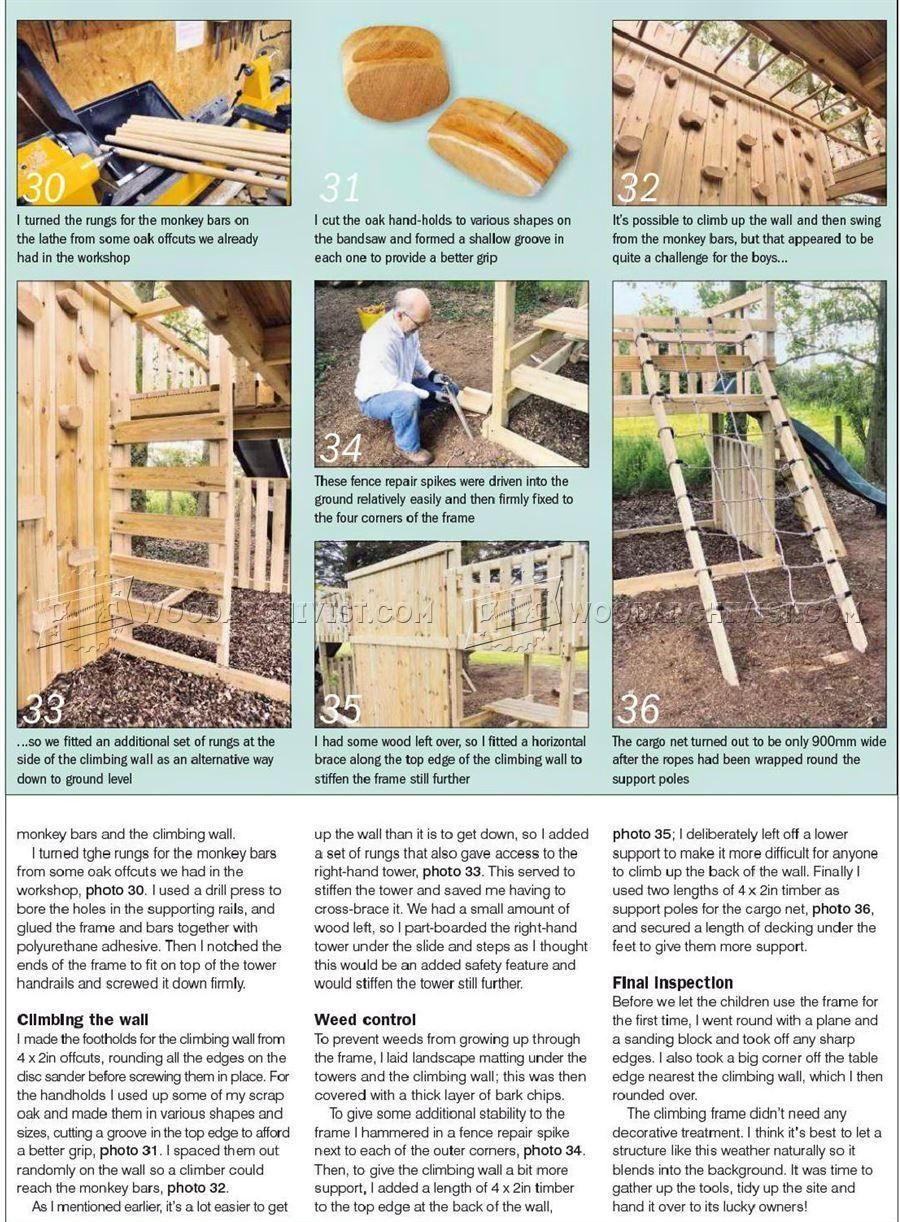 2232 Kids Climbing Frame Plans - Children\'s Outdoor Plans ...