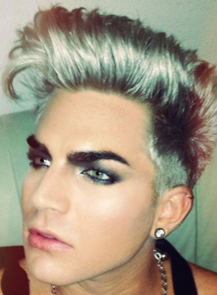 Adam Lambert On Male Makeup Androgynous Makeup Adam Lambert
