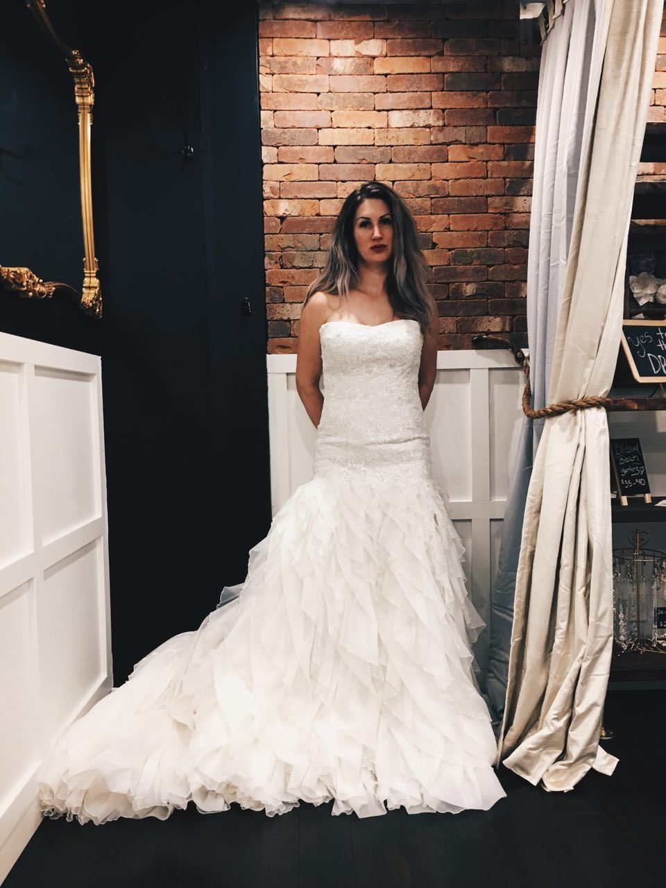 Amazing Ivory wedding dress in Essence of Australia collection
