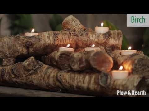 20+ Fireplace log candle holder inspirations