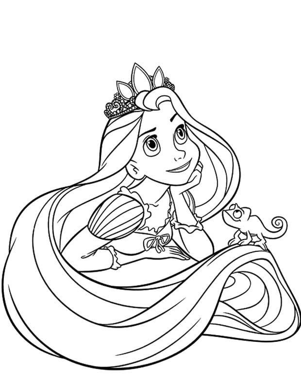 Rapunzel Daydreaming Coloring Pages | Coloring pages (for later ...