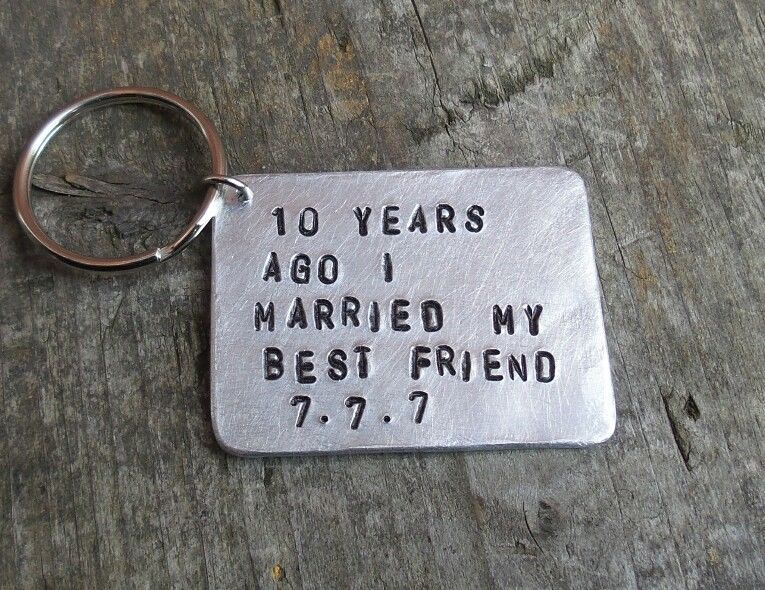 2aece952d410 10th Ten year anniversary gift Aluminium Tin PERSONALIZED VALENTINES DAY  GIFT