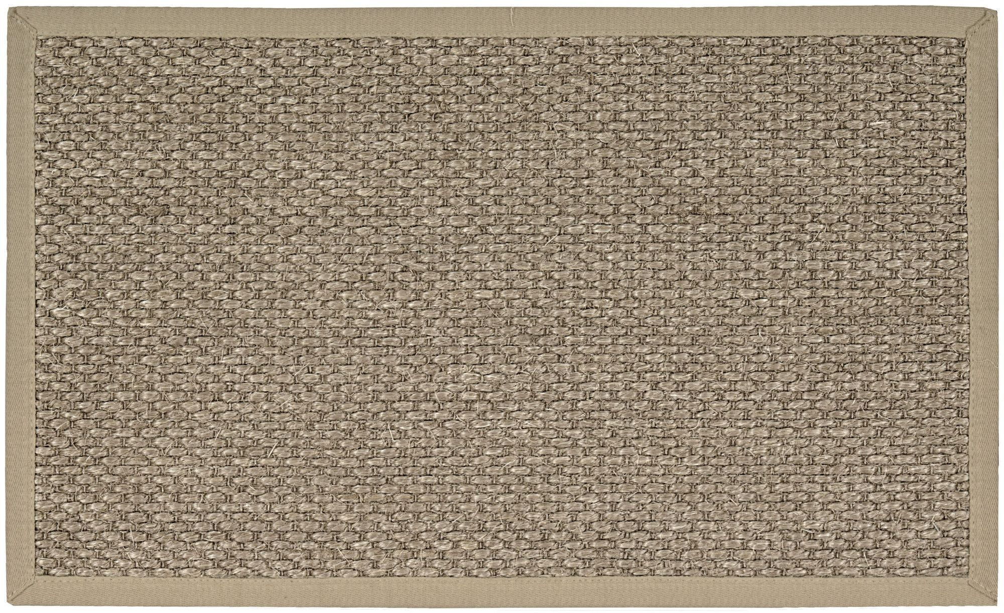 Mushroom w Taupe Sisal LOVE THIS Linen Texture Border Wool Sisal