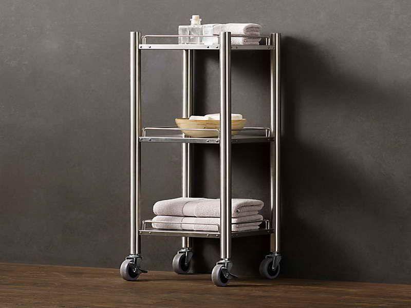 Rolling Bath Cart Design ~ Httpmodtopiastudiosimple New Small Bathroom Cart Design Inspiration