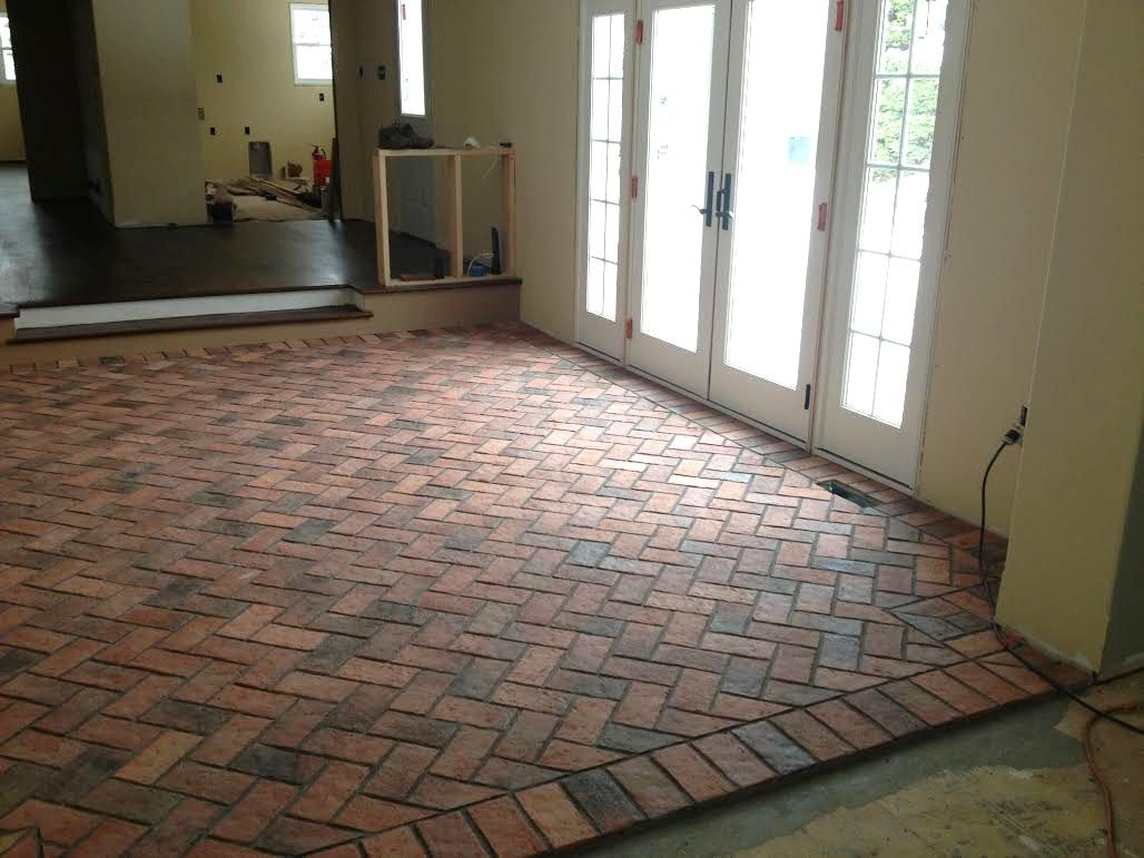 This traditional antique brick tile floor is a work in process this traditional antique brick tile floor is a work in process but is a good dailygadgetfo Images