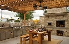Guy Fieri Outdoor Kitchen Layout Pinterest  The World's Catalog Delectable Outdoor Kitchen Layout Design Ideas