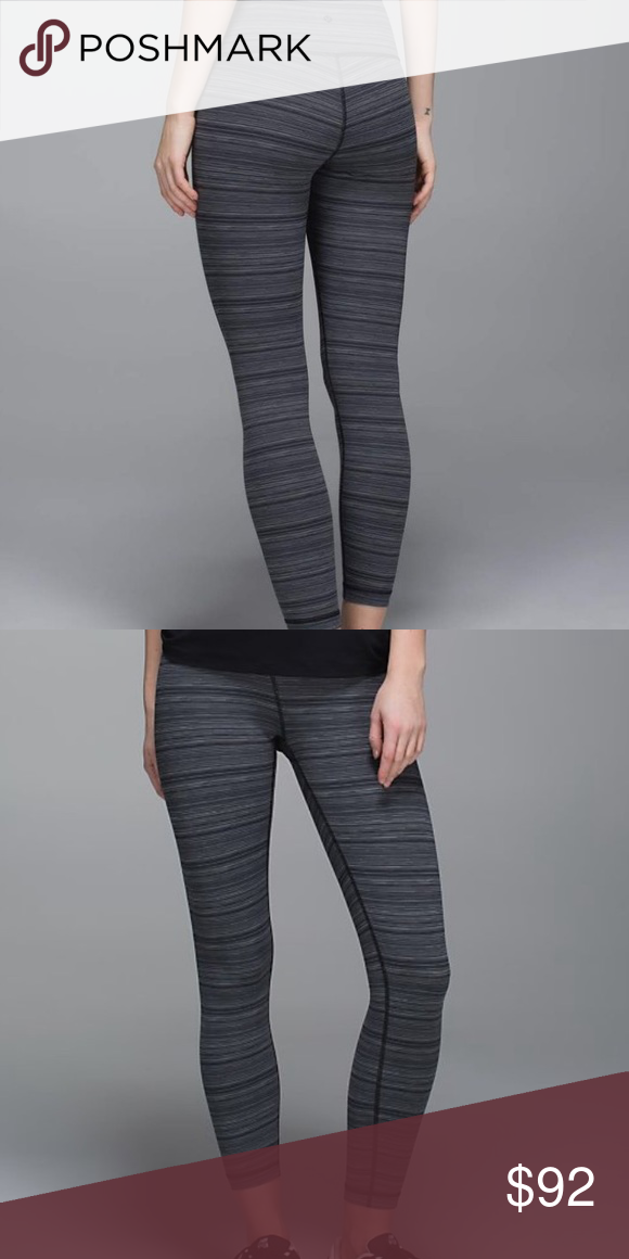 Lululemon High Times Pant Cyber Stripe Deep Coal (With