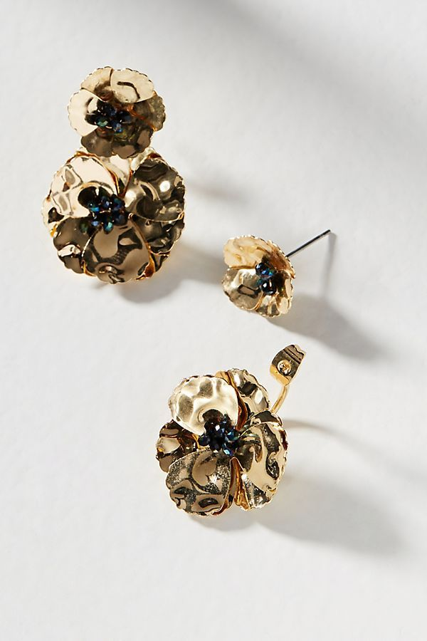 Anthropologie May Flowers Front-Back Earrings 8hoYY