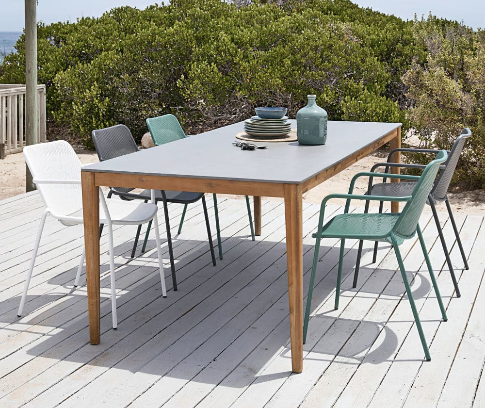 Gartentisch Aus Zement Fur 8 10 Personen L220 Maisons Du Monde Gartentisch Gartentisch Holz Aussenkuche