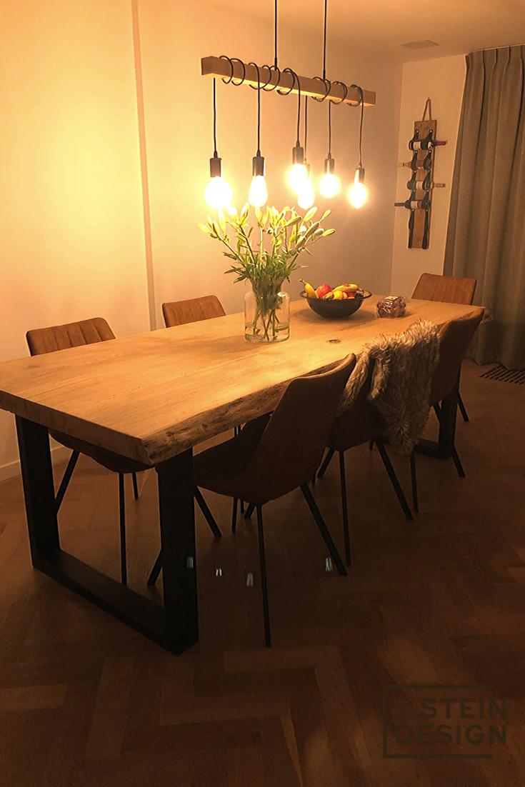 Table H Et H houten meubels maken een inrichting af. urban jungle