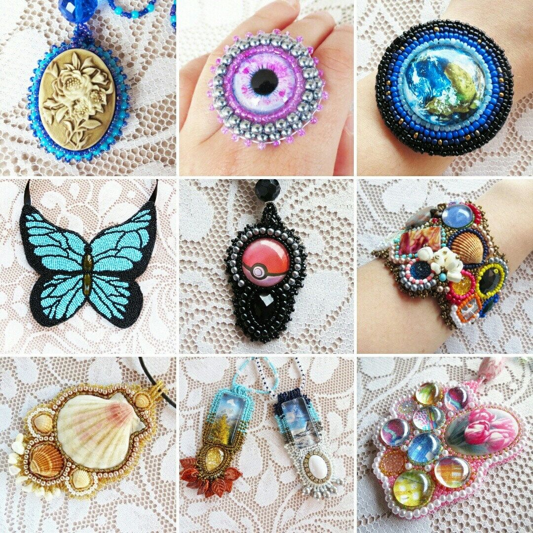 Discover the beauty of handmade bead embroidery jewelry!