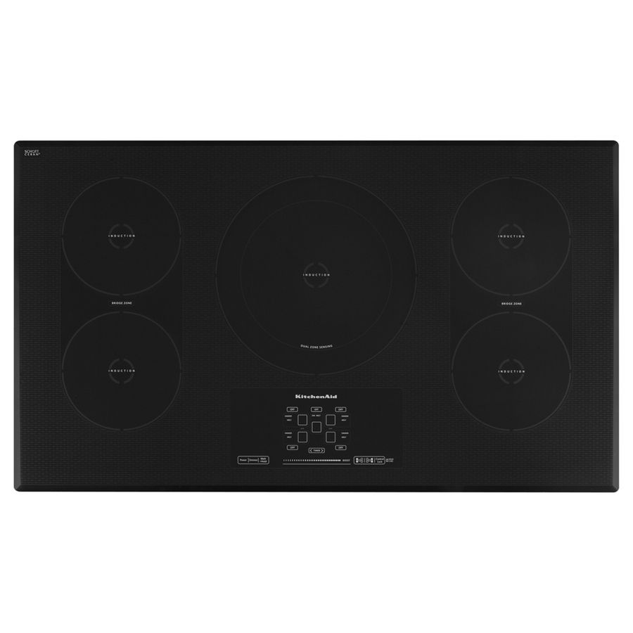 KitchenAid 5 Element Smooth Surface Induction Electric Cooktop KICU569XBL