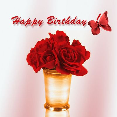 Happy Birthday Red Roses Gefeliciteerd Happy Birthday Happy