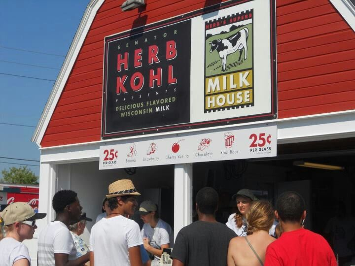 Herb Kohl's Milk House at the Wisconsin State Fair.   Variety of Flavored Milks.  I love the Cherry Vanilla.