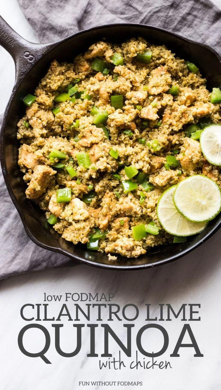Looking for a complete low FODMAP meal in less than 30 minutes, this Low FODMAP Cilantro Lime Quino