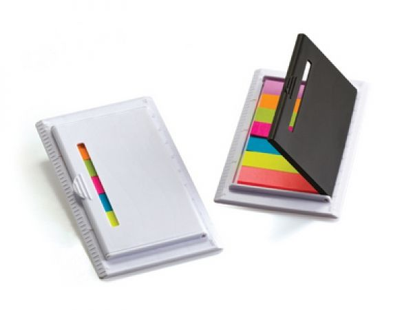 mini ruler with sticky notes available colours black and white