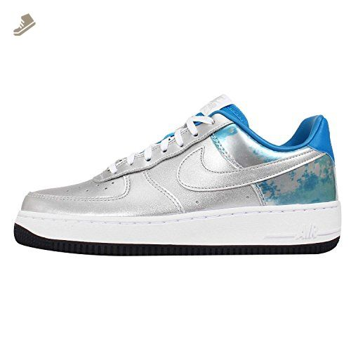 Mujeres Nike Wmns Air Force Pmr 1 07 Pmr Force Qs Metallic Silver  Mtllc Slvr 136355