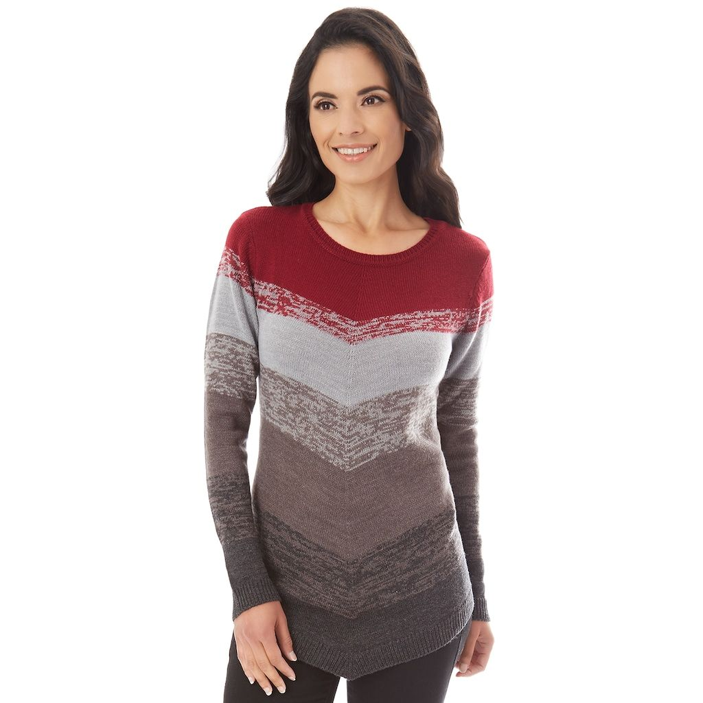 Women S Apt 9 174 Mitered Crewneck Sweater Sweaters For