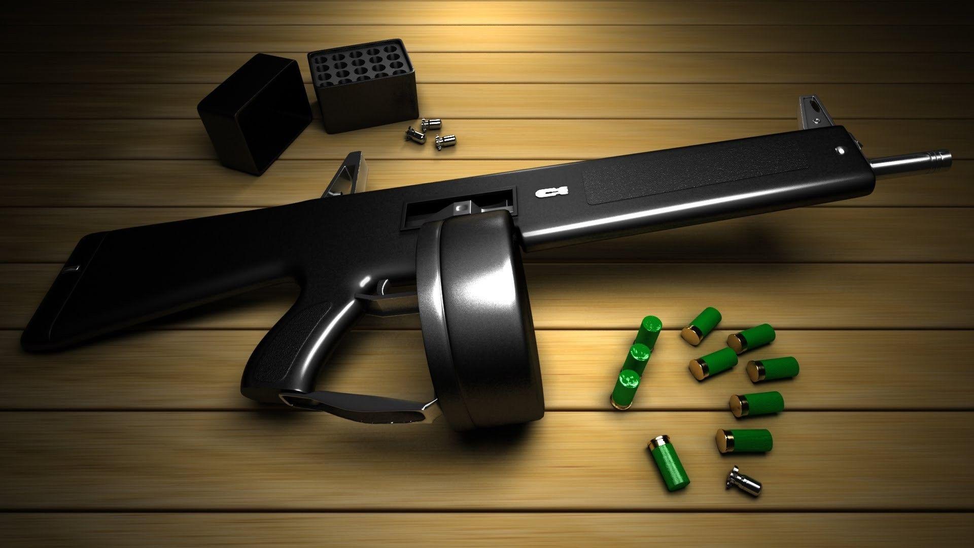 AA 12 Shotgun wallpaper Weapon wallpapers Pinterest