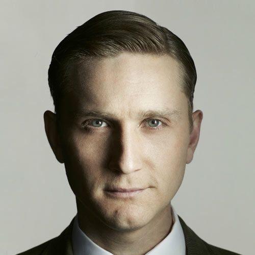 Mad Men Hairstyles Men Endearing Ken Cosgrove With A Retro Slick Style For Fine Hair