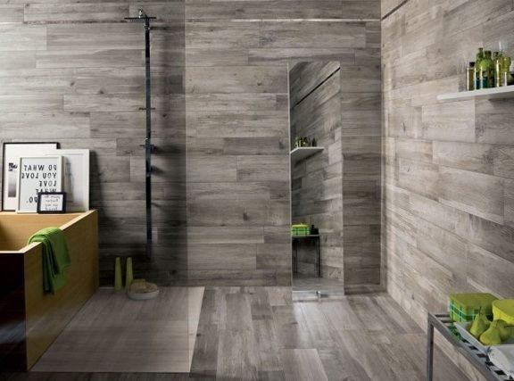 Awesome Wood Tile For Bathroom   Wood Bathroom Shower Tile Ideas