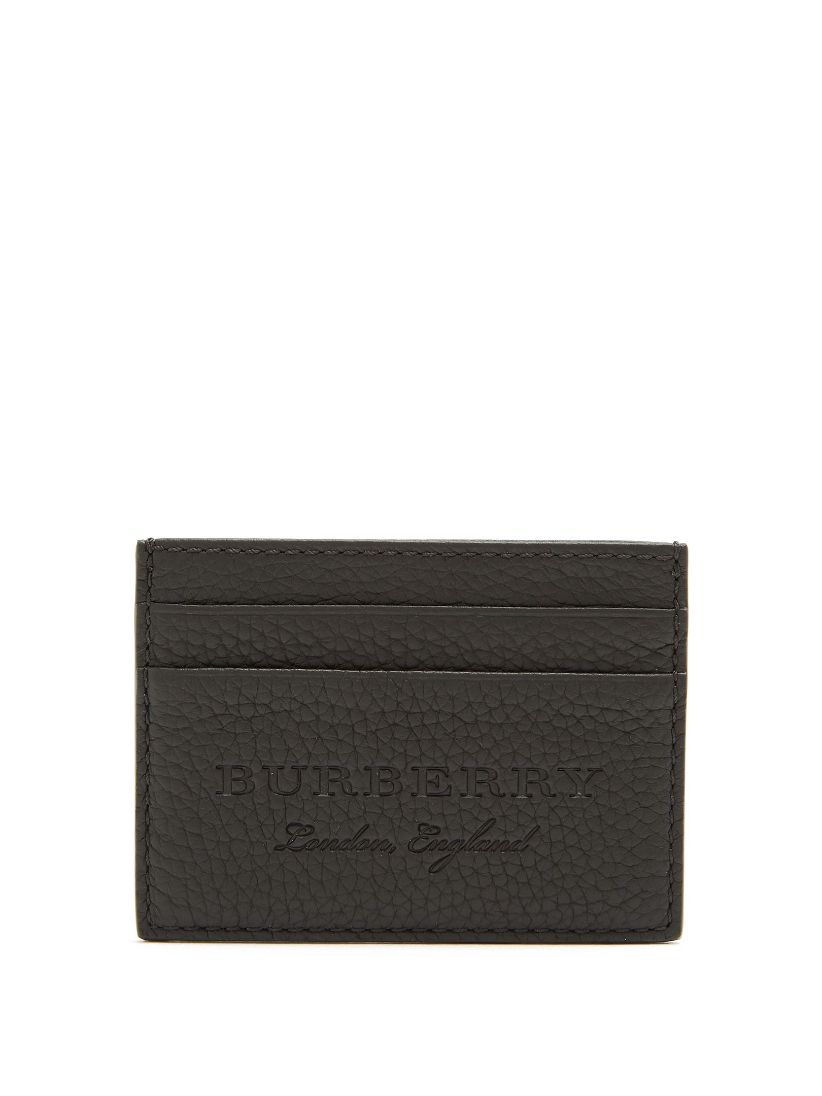 df16fde2de BURBERRY LOGO-EMBOSSED GRAINED-LEATHER CARD HOLDER. #burberry ...