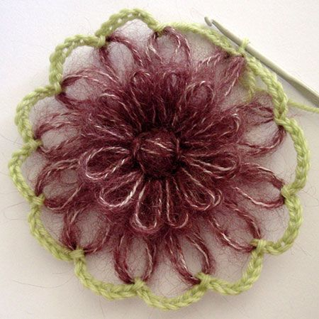 Flower Looms The Spider Web Join Yarn Flowers Knitting Crochet