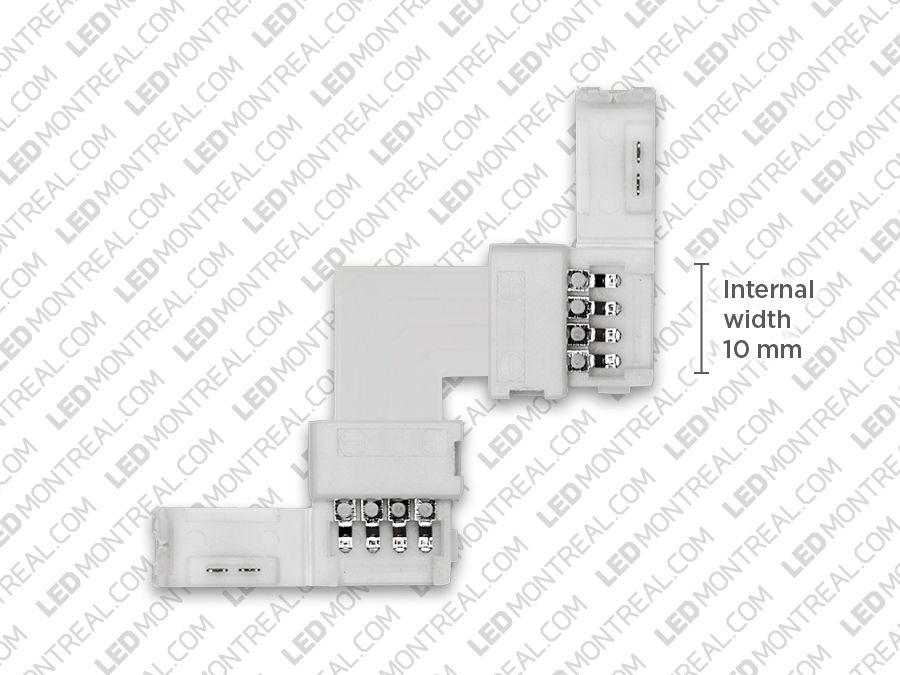 L Shape Corner Connector For 5050 Rgb Strips Installing Led Strips Connector Led