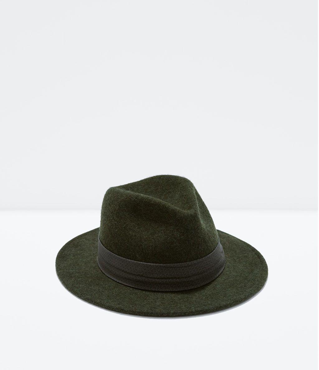 Klassiker Filzhut Mit Breiter Krempe Von Zara Wide Brim Felt Hat Mens Fashion Casual Mens Accessories