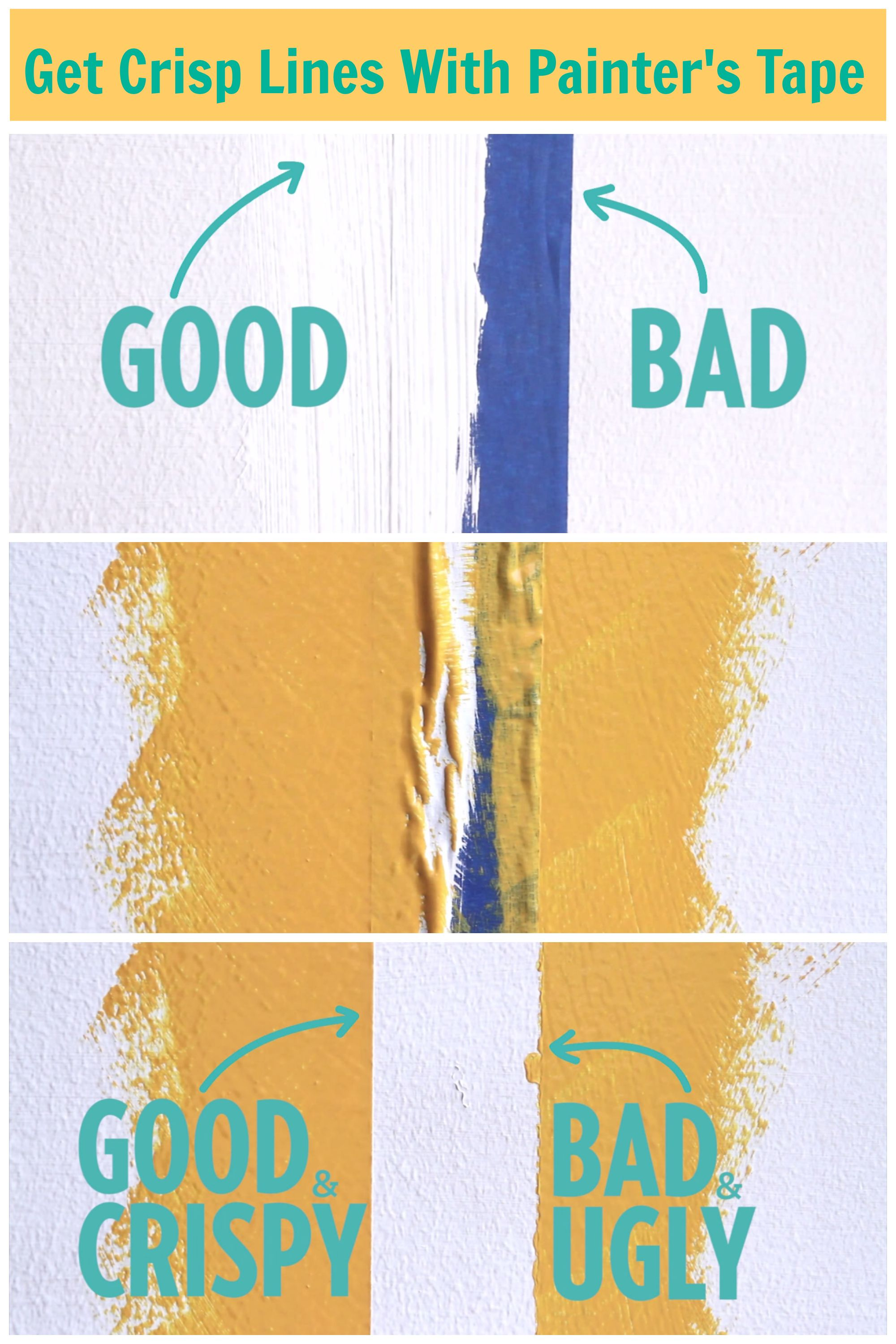 The Foolproof Way to Get Crisp Lines With Painter\'s Tape | Paintings ...