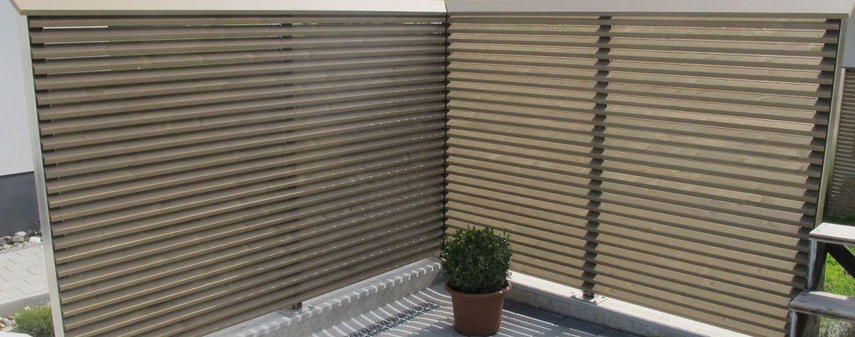 Sichtschutz eckausbildung gartengestaltung mit cadex haltesystem pinterest sichtschutz - Schallschutzwand selber bauen ...
