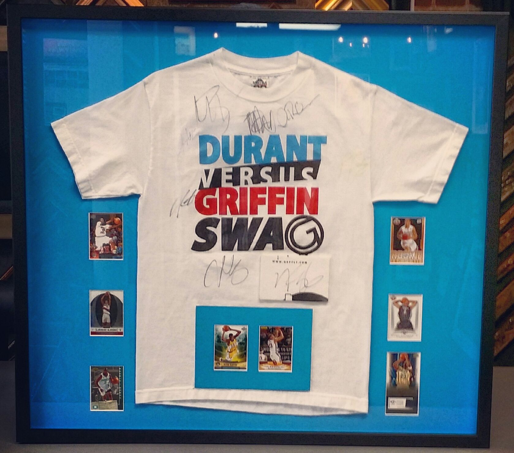 Signed kevin durant t shirt in a custom shadowbox frame art signed kevin durant t shirt in a custom shadowbox frame art framing jeuxipadfo Gallery