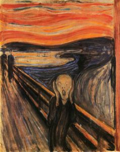"It seems to be happening more and more often that life throws more things at me than I can handle all at once. Instead of feeling 1-2 emotions I'm feeling 7-8. Now, all of it has me feeling like Edvard Munch's ""Scream"" here."