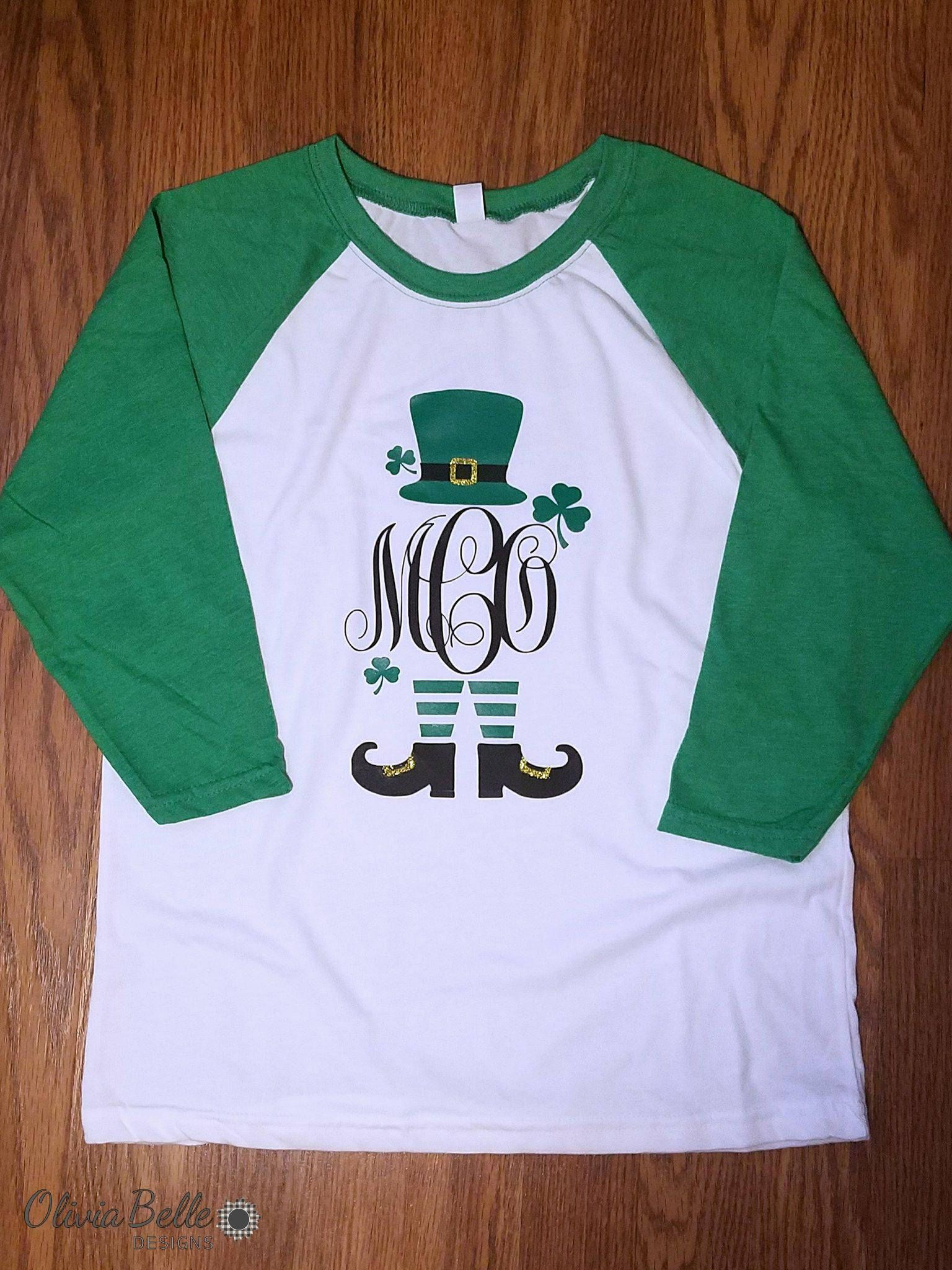 4c9ade25 St Patricks Day Monogram Shirt, Leprechaun Monogram, Girls Leprechaun Shirt,  Girls St Patricks Day Shirt, Shamrock Shirt, Girls Irish Shirt by ...
