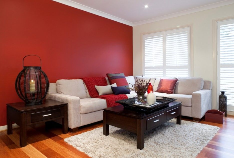 Living Room Decorating Ideas Red Walls red wall living room - home design