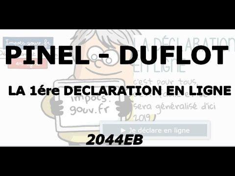 Déclaration d\u0027impôt en ligne - PINEL DUFLOT - Formulaire 2044EB - logiciel d gratuit maison