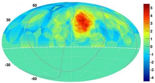 A hotspot for powerful cosmic rays