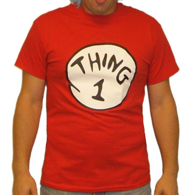 Red \u0027Thing 1\u0027 T-shirt Red things and Free shipping - mens homemade halloween costume ideas
