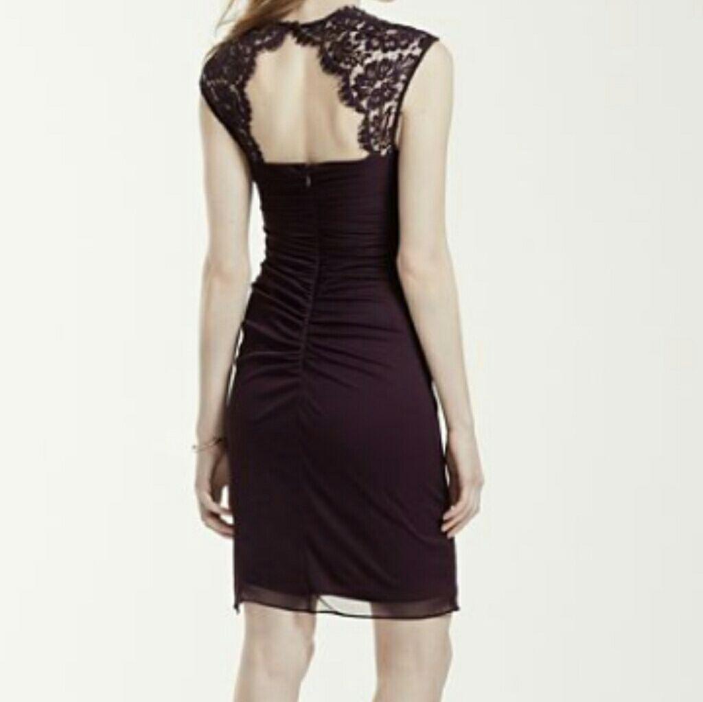 David S Bridal Plum Bridesmaid Dress! 9d2483fb760b
