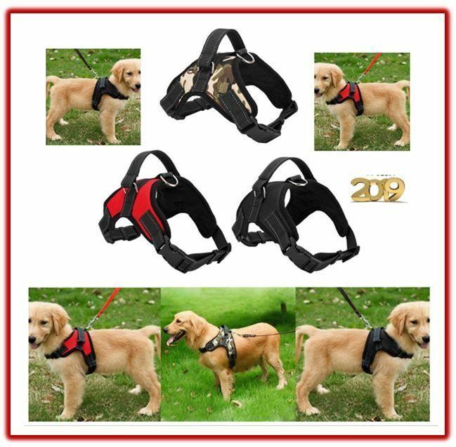 Adjustable Small Dog Harness Medium Large Big Pets Harness No Pull