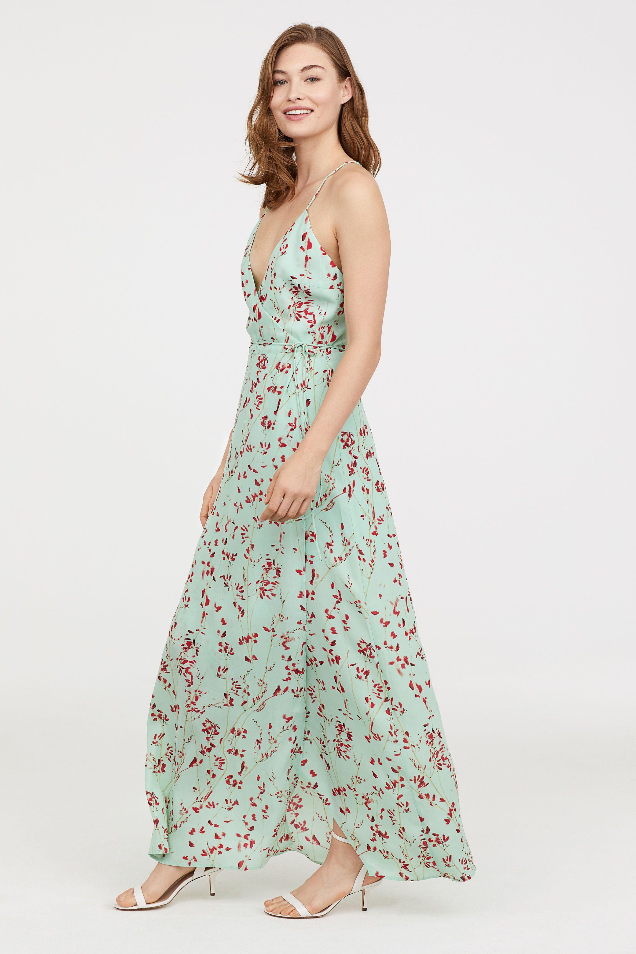 c64d240f9dce Long Wrap Dress in 2019 | Fancy. | Dresses, Wrap dress, Strapless ...