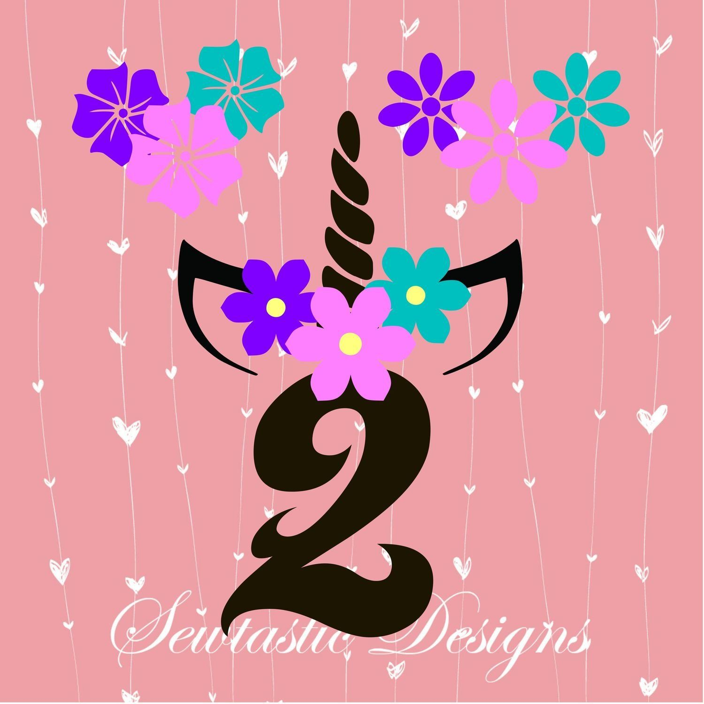 Second Birthday Unicorn SVG, Unicorn SVG, 2nd SVG, Birthday