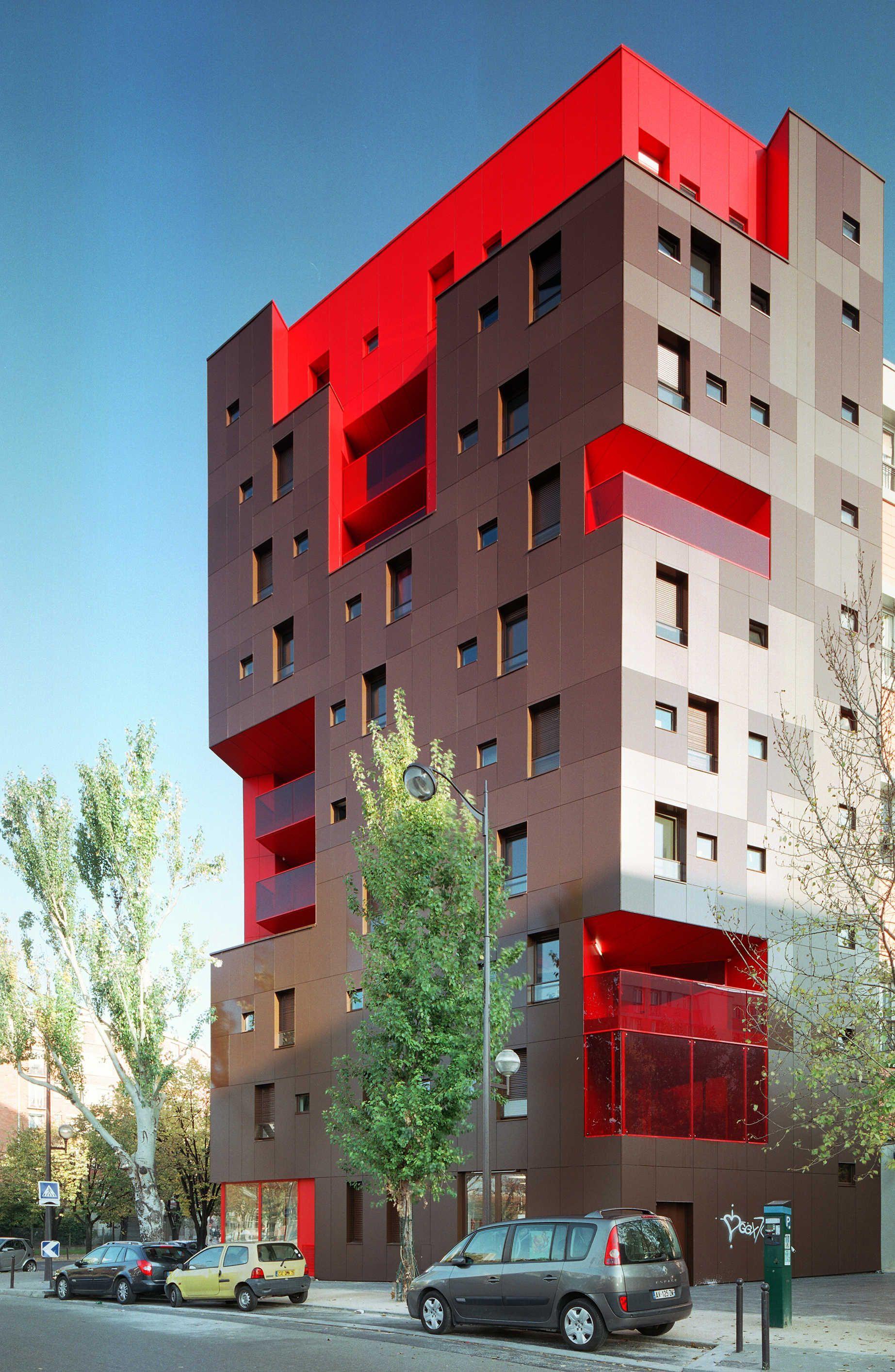 logements 6 place du dr yersin paris 13 koz architectes paris habitat oph fa ades en. Black Bedroom Furniture Sets. Home Design Ideas