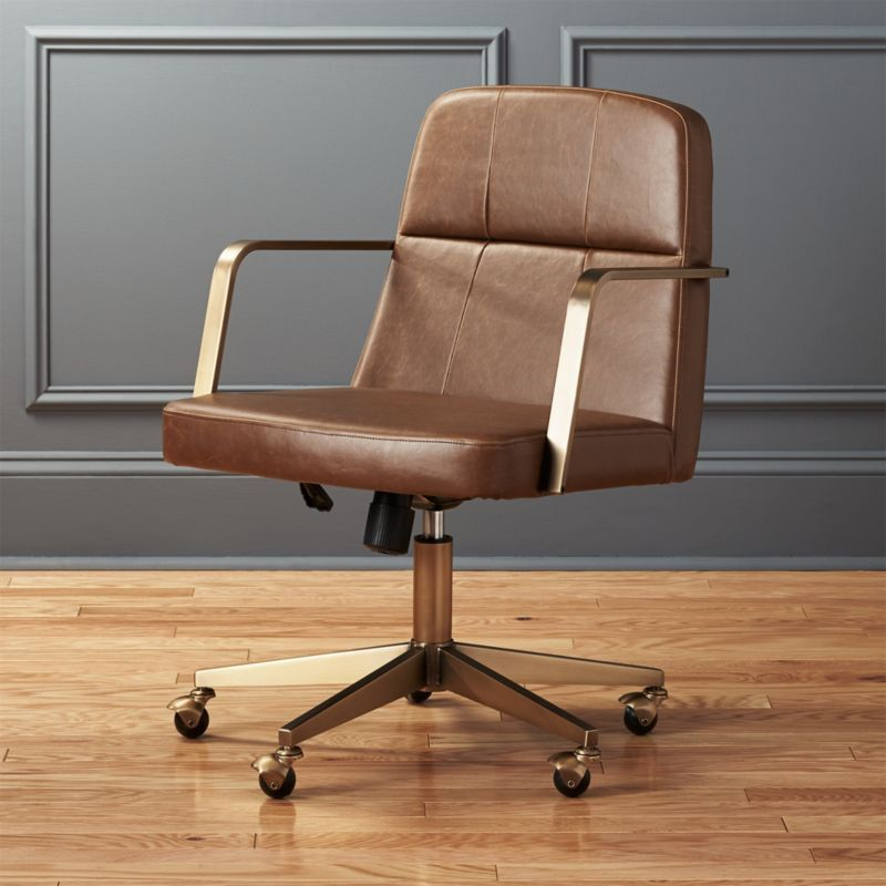 Draper Faux Leather Office Chair Reviews Modern Office Chair