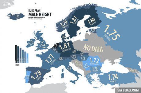 Average Height In Europe Europe Map European Map Europe