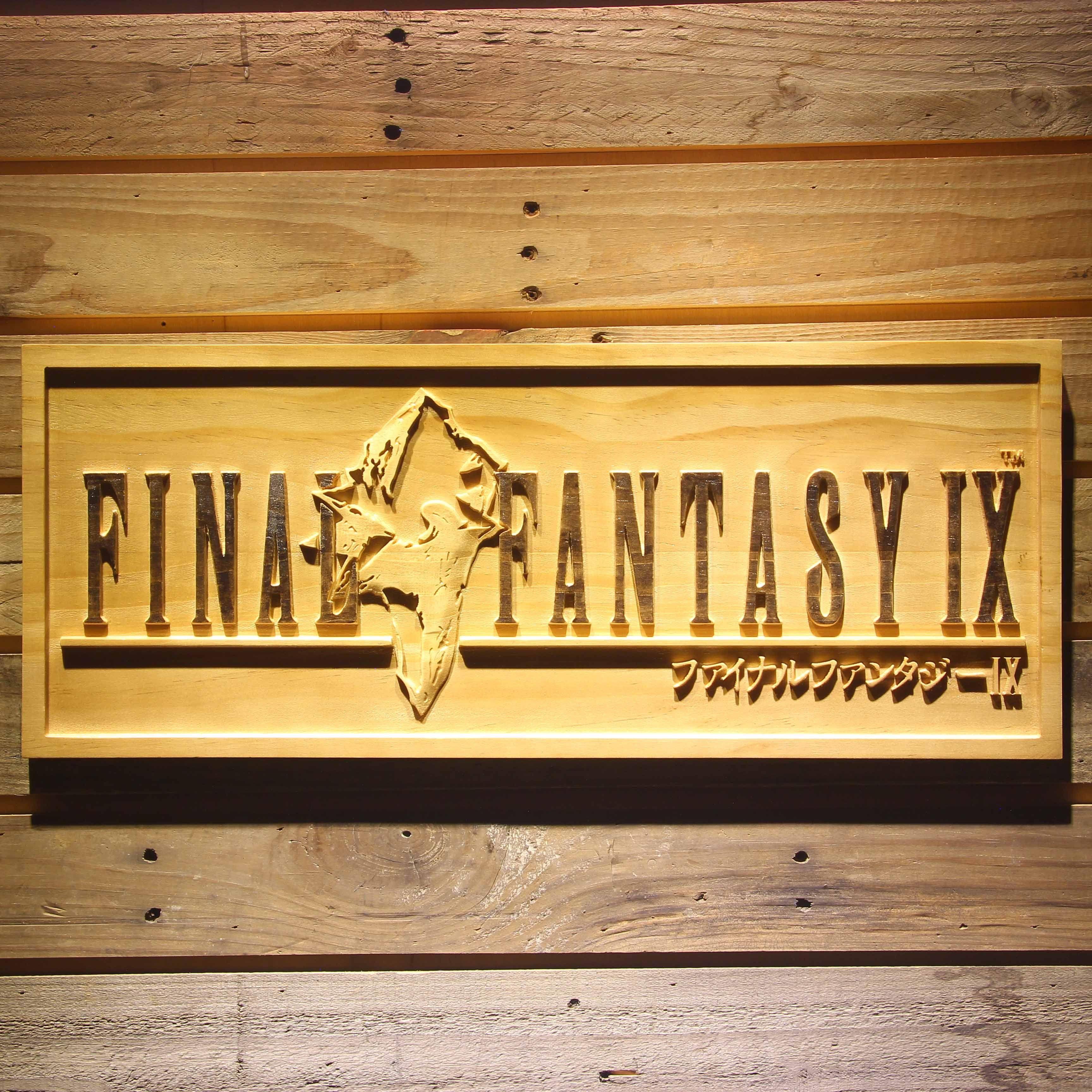 Final Fantasy IX 3D Wooden Sign
