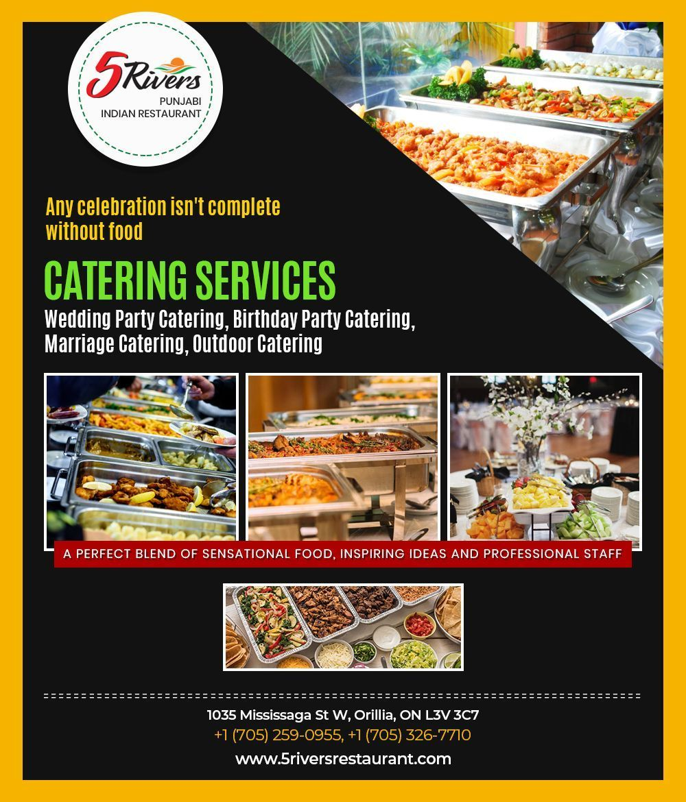 Catering Services in Orillia - 5 Rivers Restaurant #cateringservices Any celebration is not complete without food. 5 Rivers Restaurant provide professional catering services in Orillia for wedding party, birthday party and outdoor. #cateringservices Catering Services in Orillia - 5 Rivers Restaurant #cateringservices Any celebration is not complete without food. 5 Rivers Restaurant provide professional catering services in Orillia for wedding party, birthday party and outdoor.