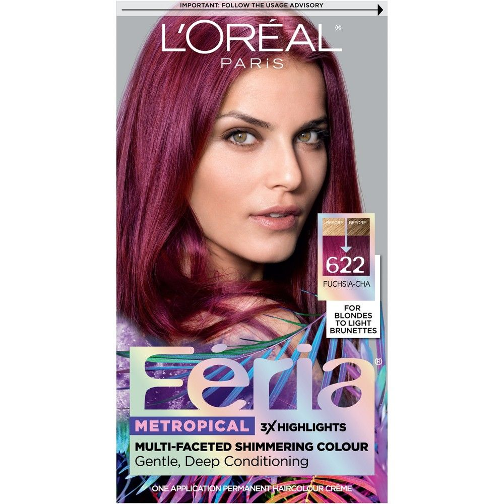 L Oreal Paris Feria Multi Faceted Shimmering Permanent Hair Color Fuchsia Cha Hair Color For Black Hair Permanent Hair Color Feria Hair Color