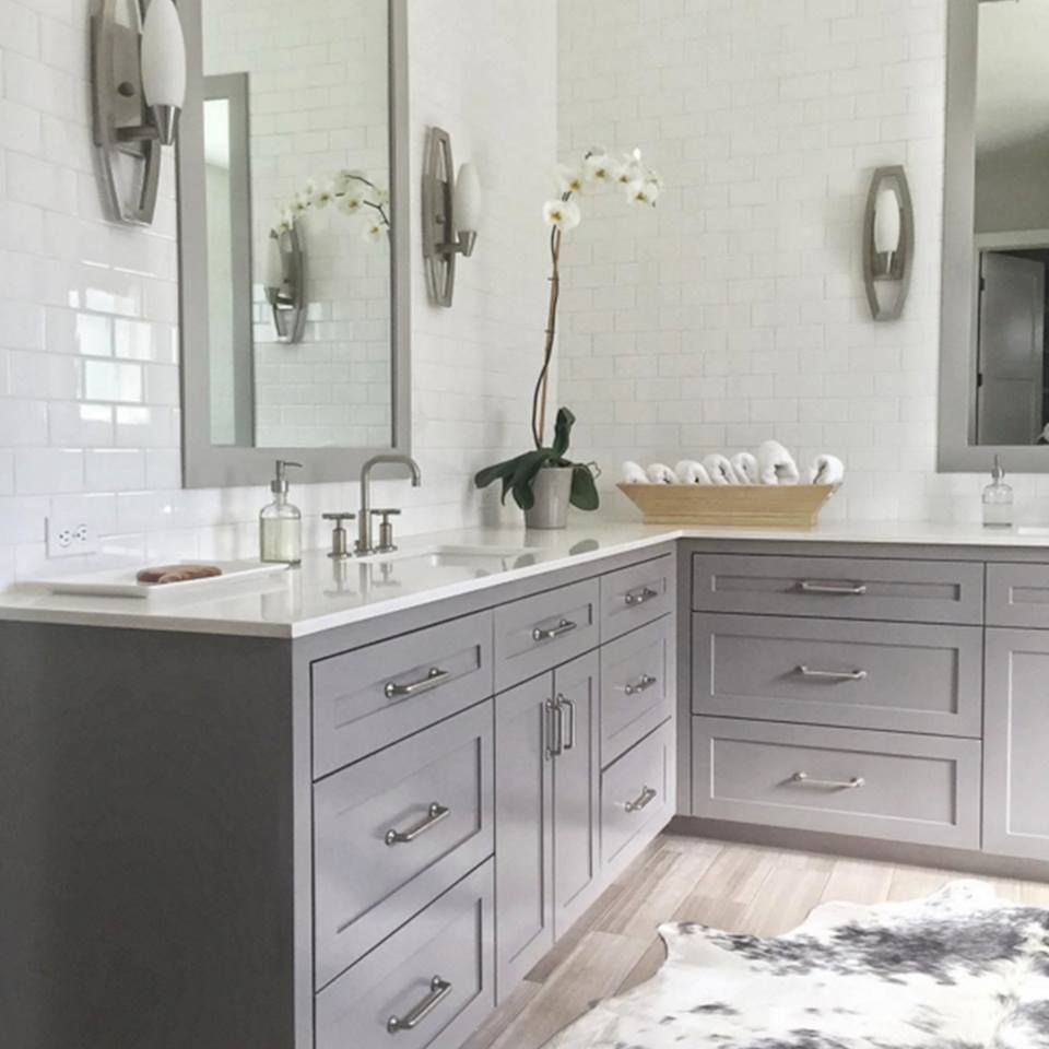 No Title Grey Bathroom Cabinets Bathroom Decor Colors Kitchen Cabinets In Bathroom